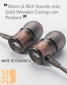 The Meze 12 Classics is a bit of a surprise. The walnut wood housing changes, slightly, over time in tone and contrast. Its mystery isn't quick to vanish. Audio Music, Audio Equipment, Walnut Wood, Mystery, Contrast, Tech, Phone, Classic, Objects