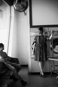 laundromat portrait model - melodie adams