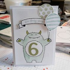 Yummy in My Tummy birthday card Stampin Up!
