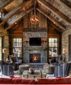 amazing rustic home design ideas for you 11 > Fieltro.Net 39 Amazing Rustic Home Design Ideas Fo Rustic Home Design, Cabin Design, House Design, Rustic Style, Cabin Fireplace, Barn House Plans, Boho Home, Log Cabin Homes, Wood Home Decor