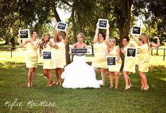 Awesome bridesmaid picture idea