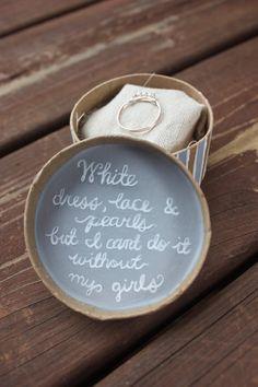 Ring bridesmaid proposal