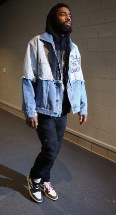 Every Sneaker Worn By Kyrie Irving This Season Mode Masculine, Fashion 90s, Fashion Outfits, Celebrities Fashion, Fashion Ideas, Celebrity Style Casual, Celeb Style, Black Men Street Fashion, Jordan Fashions
