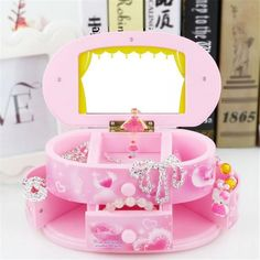 Pink Jewelry Music Box with Dancer 💕  Price: $36.99 & FREE Shipping MusiGifts - Gifts for Musicians  #musician