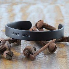 Carpe Diem Jewellery Man Black Bracelet Custom Engraved