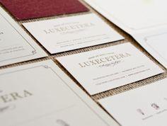 Branding / Business Card / Letterpress / Luxecetera  by Lisa Reichman, Eva Talley, Ashley Jankowski