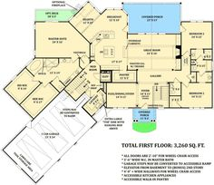 Basemen floor plan with in-law suite. LOVE the huge walk in closets and the walk in pantry! Ranch House Plans, Craftsman House Plans, Dream House Plans, House Floor Plans, Craftsman Ranch, Craftsman Homes, Craftsman Style, Flex Room, Bonus Rooms