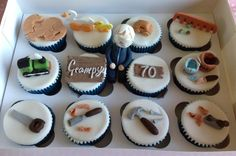Woodwork Themed Cupcakes - Cake by Carolyn