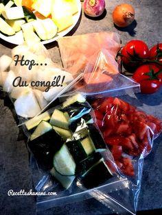 Je prépare habituellement les légumes à l'avance, et je congèle pour gagner du temps..