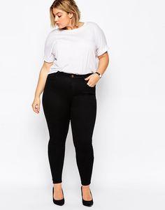 Image 4 of ASOS CURVE Ridley Super Soft Highwaist Skinny Jean