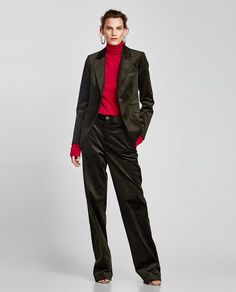 Bilderesultat for women wearing corduroy trousers