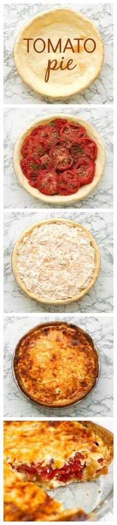 Tomato Pie Recipe | thetwobiteclub.com