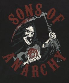 Sons of Anarchy Carved Table | Sons of Anarchy Red Reaper T-Shirt logo