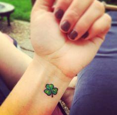 New shamrock tattoo.                                                                                                                                                     More