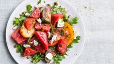 Watermelon Salad with Tomatoes, Feta and Pistachios recipe | PCC Community Markets