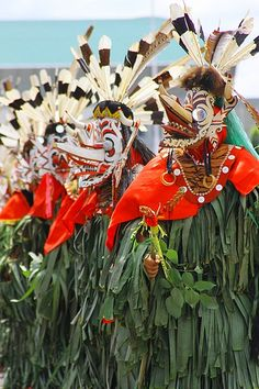 manifestation of guardian spirits for Dayak tribe in East Kalimantan (Borneo), Indonesia