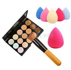 11pcs Makeup Brushes Kit 15 Colors Concealer Palette Sponge Puff Makeup Set Kits Pro Facial Contour Palette Durable High Quality Concealer Back To Search Resultsbeauty & Health