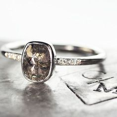 New 1.22 carat peppery diamond ring in white gold going to it's new home. Just look at the details in the diamond. Gorgeous! #jewelry #chincharmaloney
