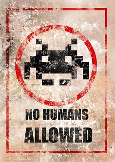 Space Invaders Tribute by Manuellk Vintage Video Games, Retro Video Games, Video Game Posters, Video Game Art, Game Wallpaper Iphone, Space Invaders, Old Video, Geek Art, Cool Posters