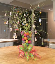 My Easter tree.  It's a little silly, but easy and fun for my kitchen.   2014