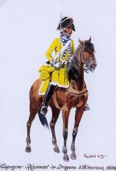 1806 - Espagne, Régiment de Dragons d'Almansa - Herbert Knótel.