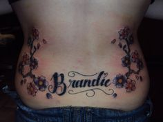 added the cherry blossoms day after ''brandie'' tattoo
