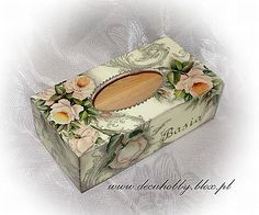 , Tissue Box Covers, Tissue Boxes, Kleenex Box, Decoupage Box, Beauty Box, Anniversary Cards, Folk Art, Diy And Crafts, Decorative Boxes