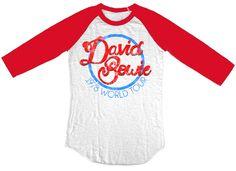 Rocker Rags - David Bowie Vintage Concert T-shirt - David Bowie 1978 World Tour. Baseball Jersey Shirt, $34.50 (http://www.rockerrags.com/david-bowie-vintage-concert-t-shirt-david-bowie-1978-world-tour-baseball-jersey-shirt/)