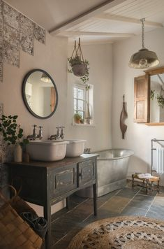 french Bathroom Decor Luxury cob cottage with hot tub near Porth Joke, north Cornwall French Bathroom, Bathroom Interior Design, Home, Cottage Interiors, French Cottage Bathroom, Cottage Bathroom, Rustic Bathrooms, Luxury Bathroom, Bathrooms Remodel