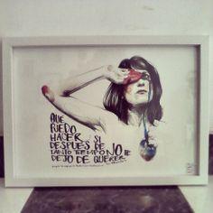 """""""Qué puedo hacer si después de tanto tiempo no te dejo de querer"""" Ilustración de Paula Bonet a partir de una canción de Los Planetas"""