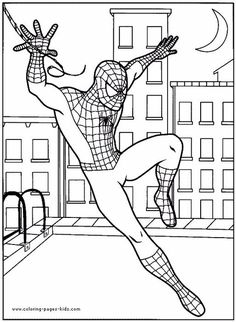 Spiderman Coloring Pages For Free See the category to find more printable coloring sheets. Also, you could use the search box to find what you want. Spider Coloring Page, Spiderman Coloring, Superhero Coloring Pages, Fall Coloring Pages, Cartoon Coloring Pages, Coloring Pages To Print, Printable Coloring Pages, Coloring Pages For Kids, Coloring Books