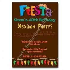 Arriba arriba!!! Funky mexican themed invitations