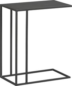 "CB2 ""Mill C Table"" only in metal color ($129). http://www.cb2.com/mill-c-table/f8476"