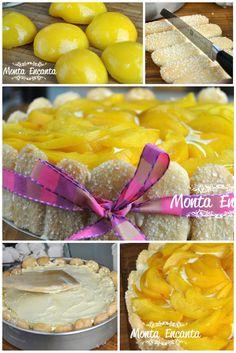 Charlotte de sorvete, Camada intercaladas de sorvete e suspiro, no formato de torta forrada por bolachas champgne e coberta com a fruta de sua preferência