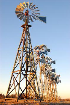 Windmills, Montague County, Texas