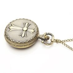 Cross Pocket Watches  FOB Watches Men Women Gift With Chain Free Shipping High Quality