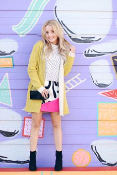 BRIGHTEN UP YOUR LOOK WITH A BOLD YELLOW CARDIGAN