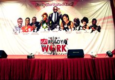 Get Ready For Work second season held at Ibadan on April 5th 2014. The event organized at the Kakanfo Inn Ibadan had over a thousand youths in attendance and they were entertained by Seyi law, Seyi Shay, Sean Tizzle ETC. Entrepreneural content was provided by Obinna Ekezie of wakanow, Muyiwa Afolabi, LEAP Africa etc
