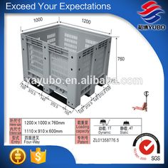 China Factory Durable Standard Pallets Container for Exported Shipping