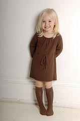 Bamboo Baby chocolate knitted organic bamboo/cotton dress
