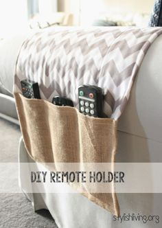"""DIY Remote Holder - so my husband will stop being irritated whenever """"I""""…"""