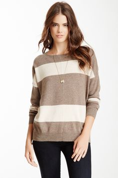 Philosophy Cashmere Striped Cashmere Pullover// love love love this sweater!!!