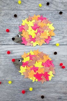 This cute paper leaf hedgehog craft is perfect for fall! Kids of all ages will enjoy using the printable hedgehog template at home or school. Such a fun autumn idea! Craft How to Make the Cutest Fall Hedgehog Craft Fall Arts And Crafts, Fall Crafts For Kids, Kids Crafts, Autumn Art Ideas For Kids, Fall Paper Crafts, Winter Craft, Kids Diy, Crafts For The Home, Fall Art For Toddlers