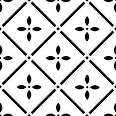 Tile Pattern #63 for 4x4 inch to 12x12 inch Tile or Coaster Reusable 10MIL Laser-Cut Stencil hlhddt by PearlDesignStudio on Etsy