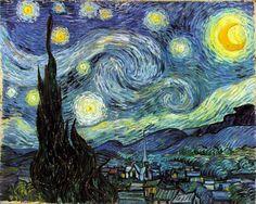 """""""yıldızlı gece"""" van Gogh"""