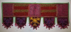 INDIAN PATCHWORK FLORAL EMBROIDERED WINDOW VALANCE TORAN DOOR WALL HANGING VR25 #Handmade