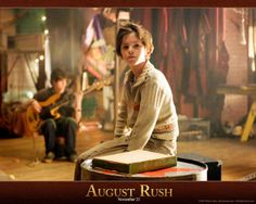 Freddie Highmore in the movie AUGUST RUSH