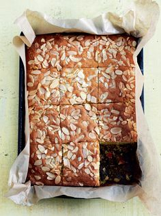 Cherry and Almond Traybake - The Happy Foodie