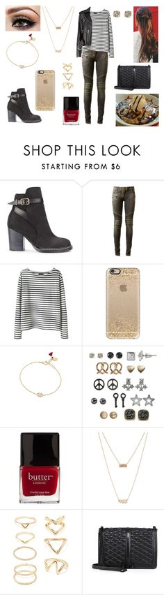"""21/08/16"" by milena-serranista ❤ liked on Polyvore featuring beauty, Purified, Balmain, Wood Wood, Casetify, Shashi, SO, Butter London, ASOS and Forever 21"