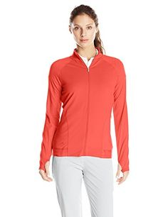 adidas Golf Womens Advance Deco Rangewear Full Zip Jacket Flash Red Large >>> See this great product.